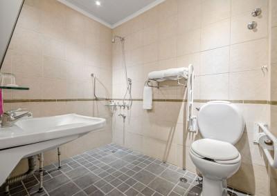 Baño Habitación Accesible Nuevo Ostende Hotel Mar del Plata
