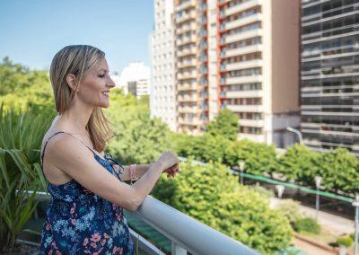 Vista balcón Habitaciones Nuevo Ostende Hotel Mar del Plata